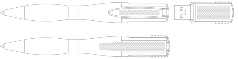 Caneta USB Serigrafia