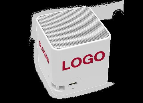 Cube - Coluna Bluetooth Com Logo