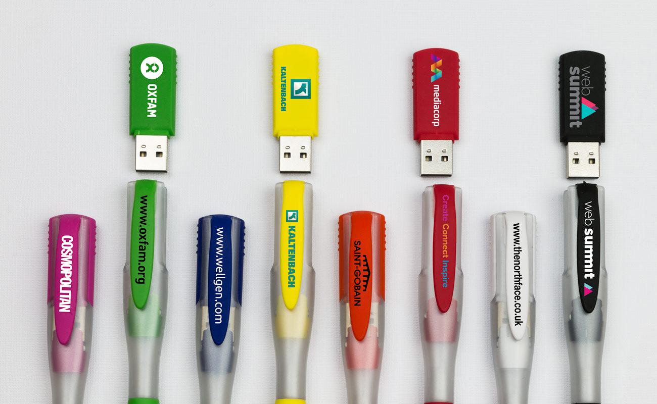 Ink - Memória USB personalizáveis