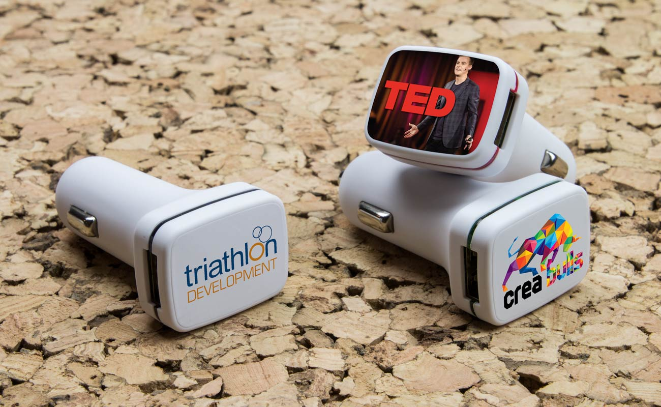 Vista - Carregadores USB para Automóvel Personalizaveis