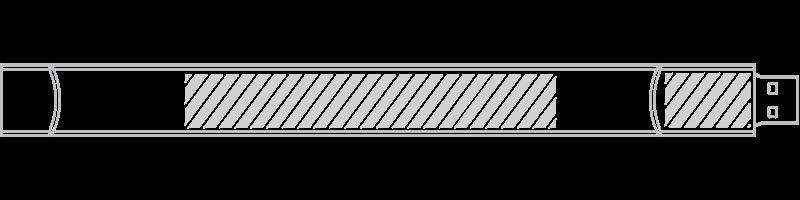 Pulseira USB Serigrafia
