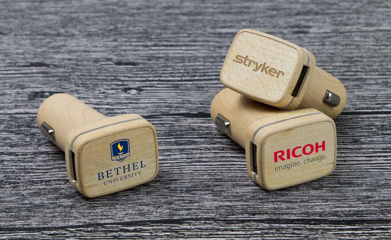Woodie - Carregadores USB para Automóvel Personalizaveis