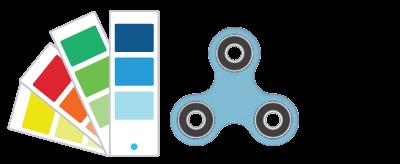 Referências de Pantone® Fidget Spinner